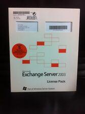 User CALs für Microsoft Exchange 2003 Server, Lizenz für 5 Benutzer