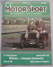 Motor Sport 12/1986 featuring Honda CRX 1.6i-16 road test