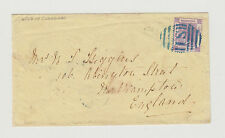 CHINA 1874 Cover SHANGHAI to England with 30c Mauve Hong Kong British P.O.