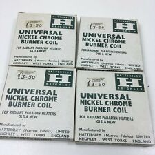 4 X HATTERSLEY UNIVERSAL NICKEL CHROME BURNER COILS - BOXED - SPARES & REPAIRS