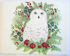 Alice's Cottage Cotton Flour Sack Kitchen Tea Towel Snowy Owl - NEW