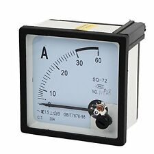 1Pcs AC 0-30A Square Analog Ammeter Panel AMP Meter 72x72mm XT-72