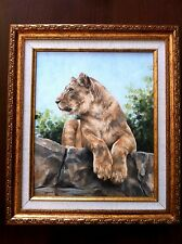 RACHEL STRIBBLING, Oil on Canvas, Amazing Lioness , Signed