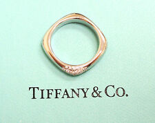 Tiffany & Co. 18k White Gold Cushion Ring Band With Diamonds H VS1 SIZE 6 WOW