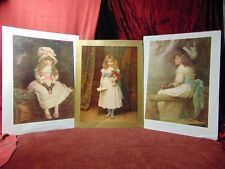 3 VICTORIAN GIRLS Children VINTAGE POSTER PRINTS Pears Soap MILLAIS Patry