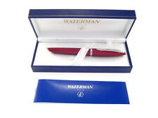 WATERMAN CARENE FOUNTAIN  PEN GARNET RED  18K GOLD  FINE  PT    NEW IN BOX