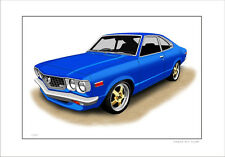 MAZDA RX3 COUPE  RE12 RE13 ROTARY   LIMITED EDITION CAR PRINT AUTOMOTIVE ARTWORK