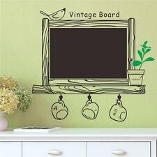 Chalk Board Blackboard Vinyl Wall Sticker Decal Removable Chalkboard Flower Cup