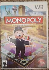 Monopoly (Nintendo Wii, 2008) Complete w/ Game Case Manual