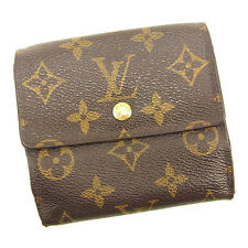 Auth Louis Vuitton Double Sided Wallet Monogram unisexused J17389