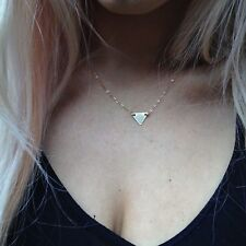 14k Gold-filled Tiny, Thin, Triangle Necklace. Minimalist, contemporary
