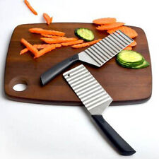 Stainless Crinkle Cutter Wavy Potato Carrot Vegetable Dough Chip Blade Slicer