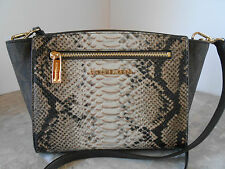 NEW MICHAEL KORS SOPHIE MEDIUM MESSENGER CROSSBODY SAND PYTHON NWT $258