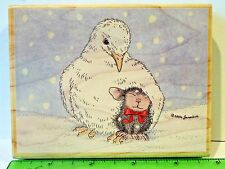 House Mouse DOVERLY LOVE rubber stamp NEW Stampabilities Christmas dove snow
