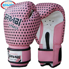 Farabi Junior Kids Boxing Gloves MMA 4 oz Pink Training MMA Kick Boxing Pads
