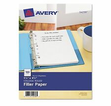 """Avery Mini Binder Filler Paper College Ruled 8 1/2"""" x 5 1/2"""" 200 Sheets AVE14230"""