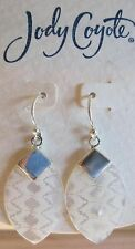 Jody Coyote Earrings JC0708 new hypoallergenic Loom LOM-0312-01 silver dangle 2