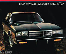 1983 Chevy MONTE CARLO Brochure / Catalog : SPORT COUPE, CL