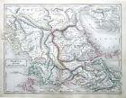 GREECE & THE PELOPONNESE Original Classical Antique Map c1840