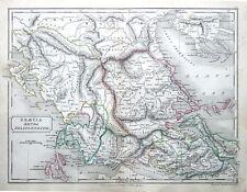 Grecia & il Peloponneso Originale Classico Antico MAP c1840