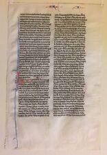 1250 Vellum MEDIEVAL MANUSCRIPT Bible PARIS Latin PRE-WYCLIFFE