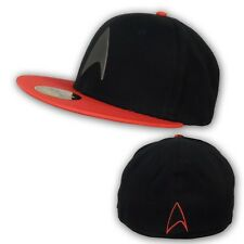 Star Trek Metal Badge Red & Black Licensed Baseball Hat