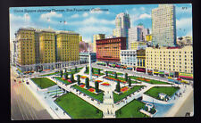 1955 San Francisco California CA Union Square Showing Garage Postcard PC