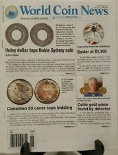 World Coin News Holey Dollar Canadian 50 Cents Bidding Jun 2016 FREE SHIPPING JB