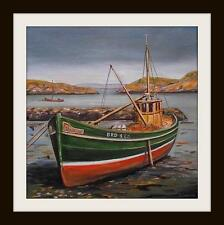 "Fishing Boat Mary Ann Original Marine Oil Painting by Kevin Corroue 12"" X 12"""