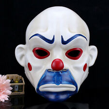 Joker Batman Dark Knight Bank Robber Mask Clown Mens Fancy Fun Adult Party Prop