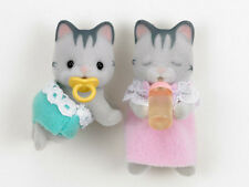 *NEW* SYLVANIAN FAMILIES 5010 Grey Cat Twins - Set of 2 Babies 4cm Twin Baby