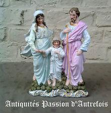 B20152004 - Sainte famille en biscuit de porcelaine polychrome - Très bon état