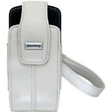 Genuine BlackBerry Pearl 8100 8110 8120 Lambskin Leather Swivel Holster - White