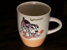 SCHNAUZER Dog Coffee Mug Tea Cup Ceramic Porcelain Glass Figurine DNC Collection