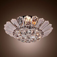 Vintage Fixture Ceiling Light Lighting Crystal Metal Pendant Chandelier Lamp USA