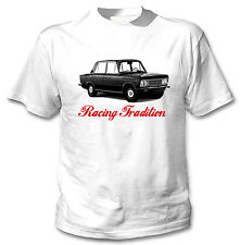 POLISH FIAT 125P INSPIRED RACING TRADITION P - WHITE COTTON TSHIRT