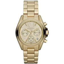 NEW MICHAEL KORS MK5798 GOLD BRADSHAW MINI CHRONOGRAPH WATCH - 2 YEAR WARRANTY