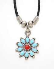 NEW! Turquoise Flower Necklace - Lead Free & Nickel Free