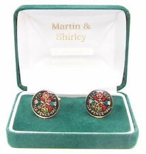 1961 Six pence cufflinks real coins in Black & Colours