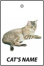 PERSONALISED AUSTRALIAN MIST CAT NAME CAR AIR FRESHENER