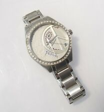 Fossil Women's ES2303 Stainless Steel Watch Peace Sign Crystal Bezel