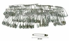 100pc 50mm Safety Pins Ideal Running Cycling & other Sports Events Nappy Pins