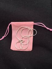 1mm Sterling Silver Snake Chain Necklace 925 stamped with Pink Gift Bag 16 Inch