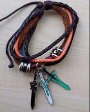 Sword Art Online anime sword charm bracelet