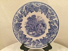 """Spode Blue Room Collection """"Rural Scenes"""" 11 3/8"""" Cake Platter. Made In England."""