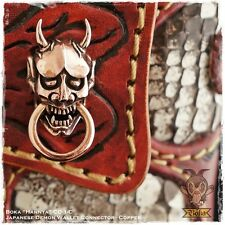 Boka Hannya Japan Demon Devil Biker Wallet Chain Connector Concho Solid Copper