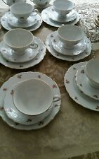 RARE Bavaria  BONE CHINA 18 PIECES- SERVING FOR 6  TEA /COFFEE SET  Pink Rose