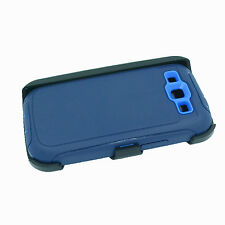 Navy Blue Samsung Galaxy S3 defender case with build in screen and belt clip new