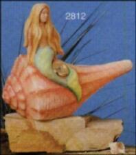 """NEW CERAMIC MOLD-SCIOTO-  S2812   Mermaid Shell  9"""" LONG"""