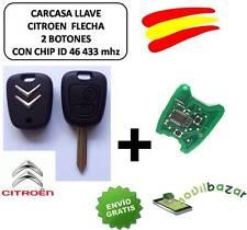 LLAVE CARCASA CITROEN SX9 C1 C2 C3 C4 XSARA SAXO PICASSO MANDO CHIP ID46 433 MHZ